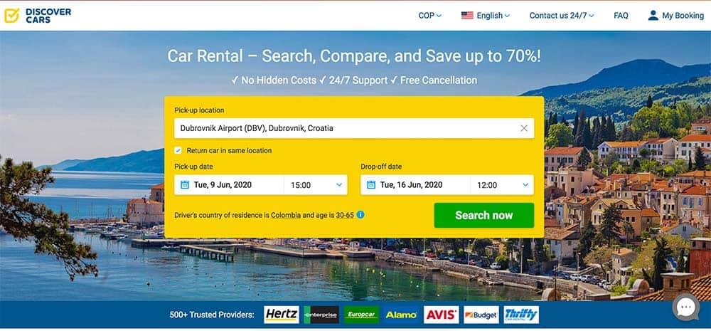 Discover Car Hire has a User-Friendly Website