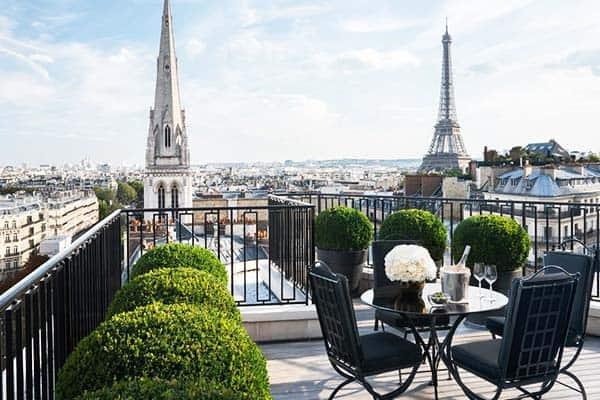 Four Seasons Hotel George V Paris Terrace View