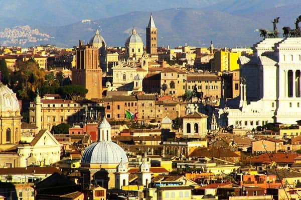 See the wonderful view of Rome in Gianicolo Hill