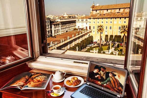 Hotel Cosmopolita Rome Window View
