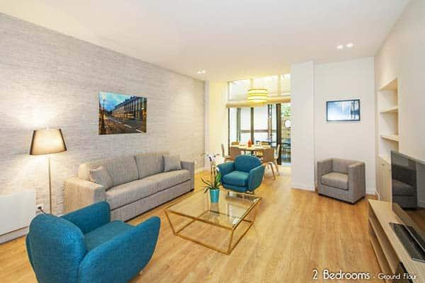 MileStay Paris Montmartre 2 Bedroom Living Area