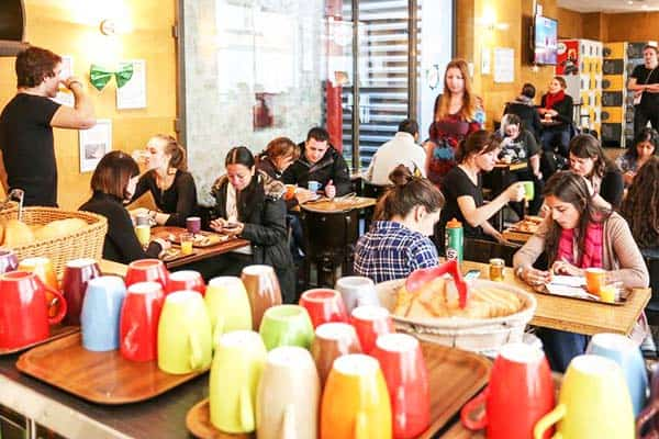 Vintage Paris Gare du Nord Dining Area