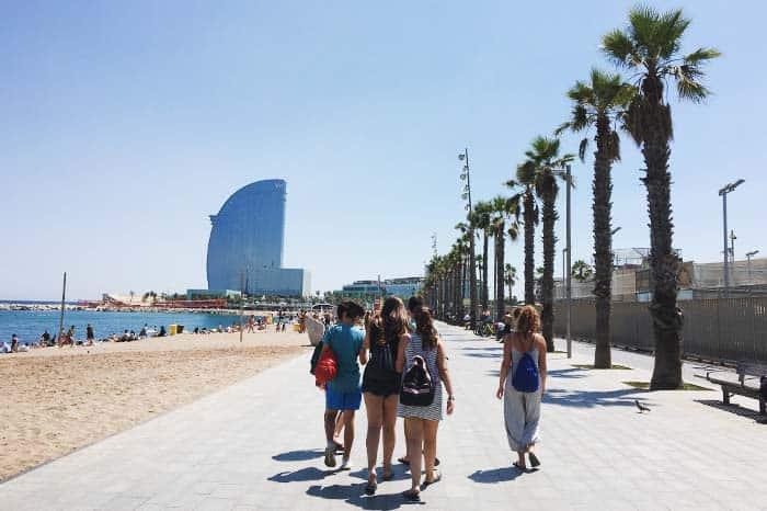 Stroll along Barcelona Beach in Barcelona