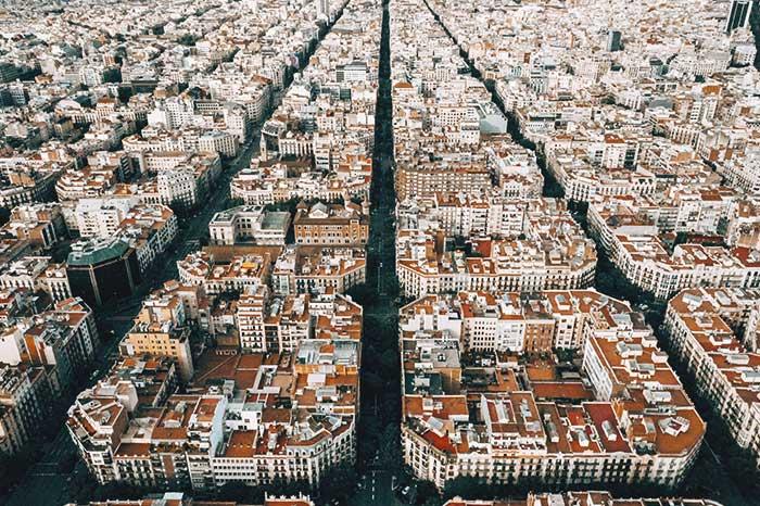 Eixample in Barcelona