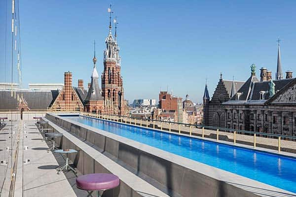 W Amsterdam Rooftop Pool