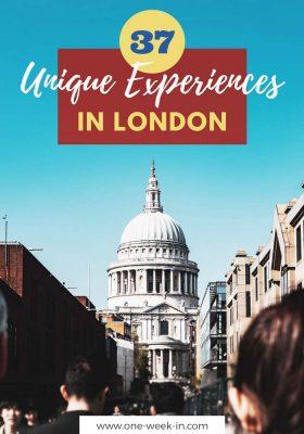 37 Unique Experience in London