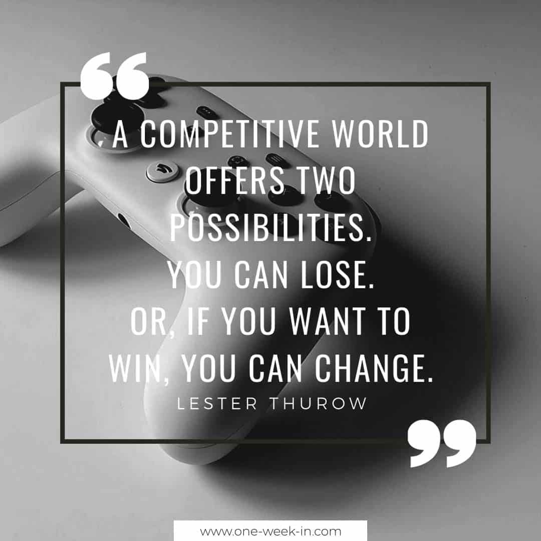 A competitive world offers two possibilities