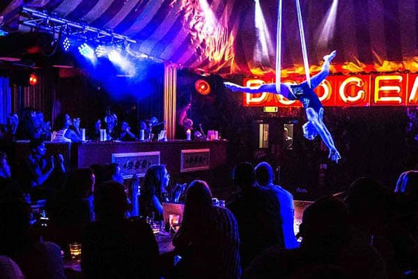 Enjoy circus shows, drag shows, and epic themed-brunches at Aeronaut