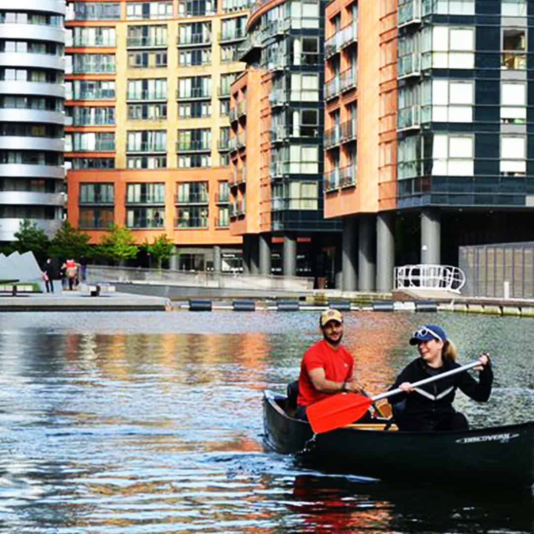 Pick your canoe and paddle out from Paddington Basin