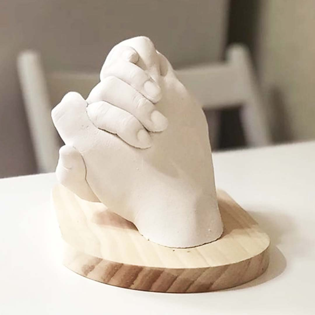 Create a hand cast with someone you love and have a lifetime memory of art