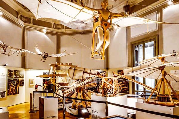 See Leonardo's ideas and inventions in his museum in Venice