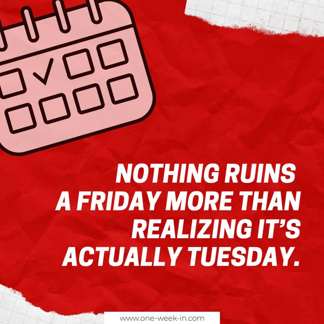 Nothing ruins a Friday
