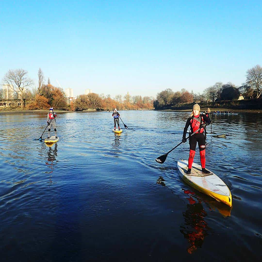Climb atop a paddleboard and drift past some of London's iconic sights