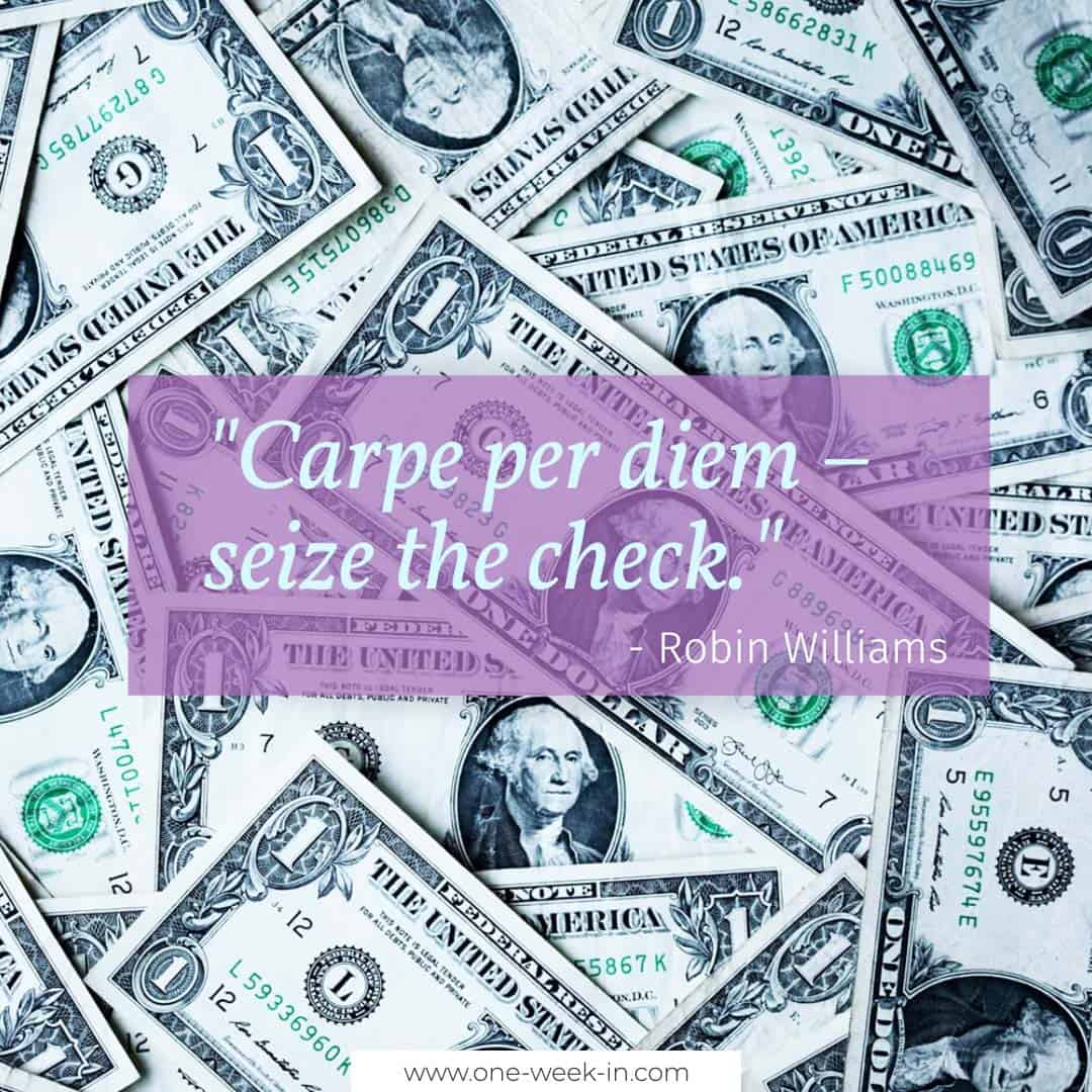 Carpe per diem – seize the check