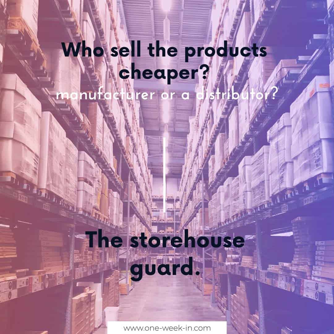 Who sell the products cheaper?