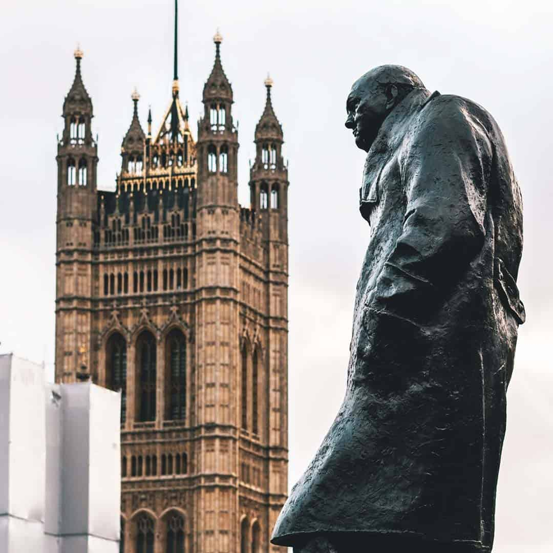 See at London through the eyes of Winston Churchill