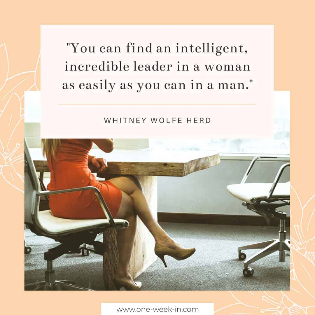 Intelligent, incredible leader in a woman