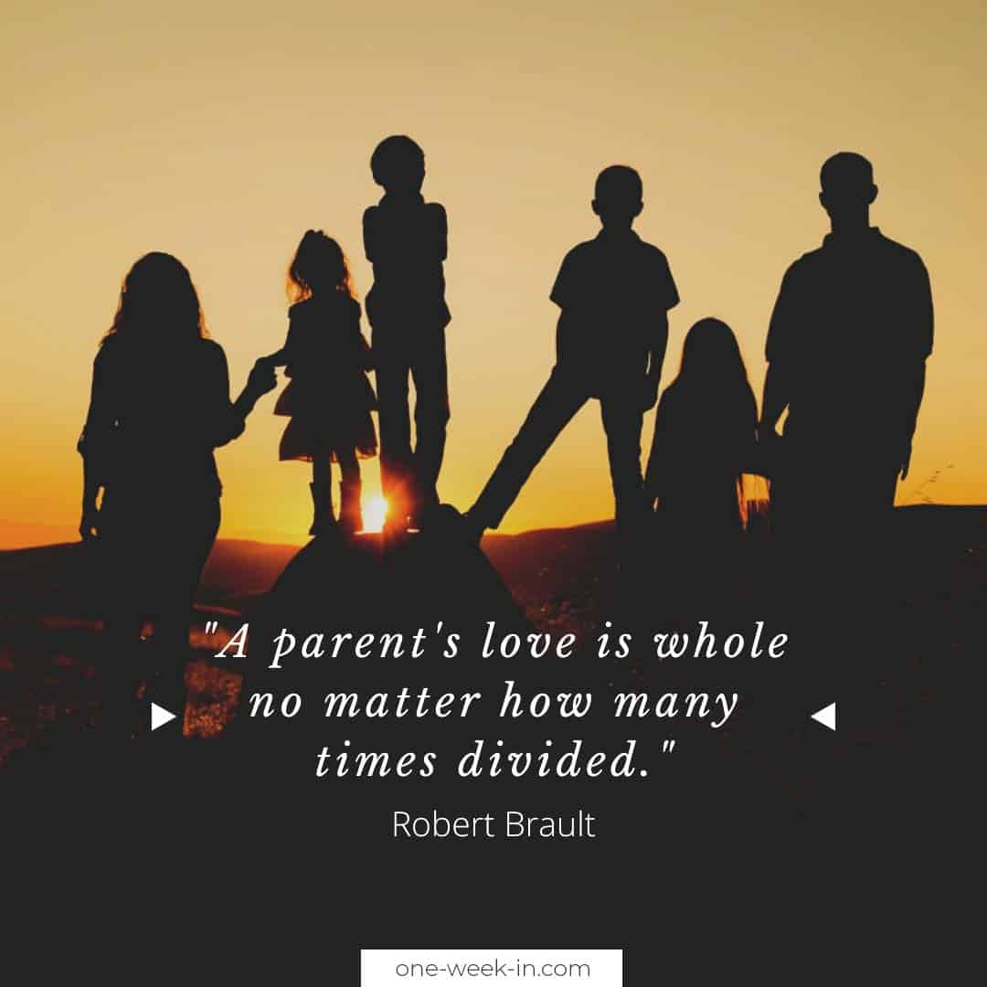 A parent's love is whole no matter how many times divided