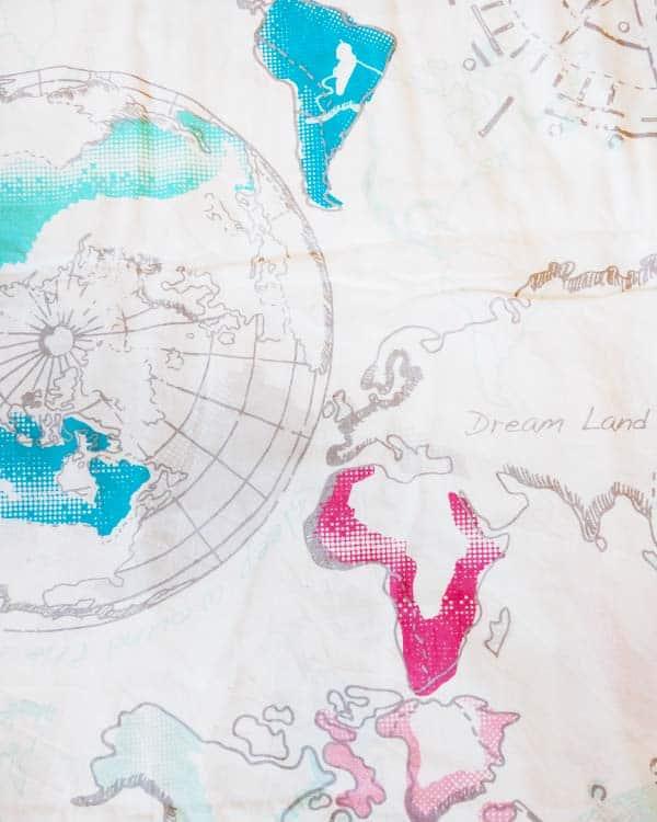 World map duvet