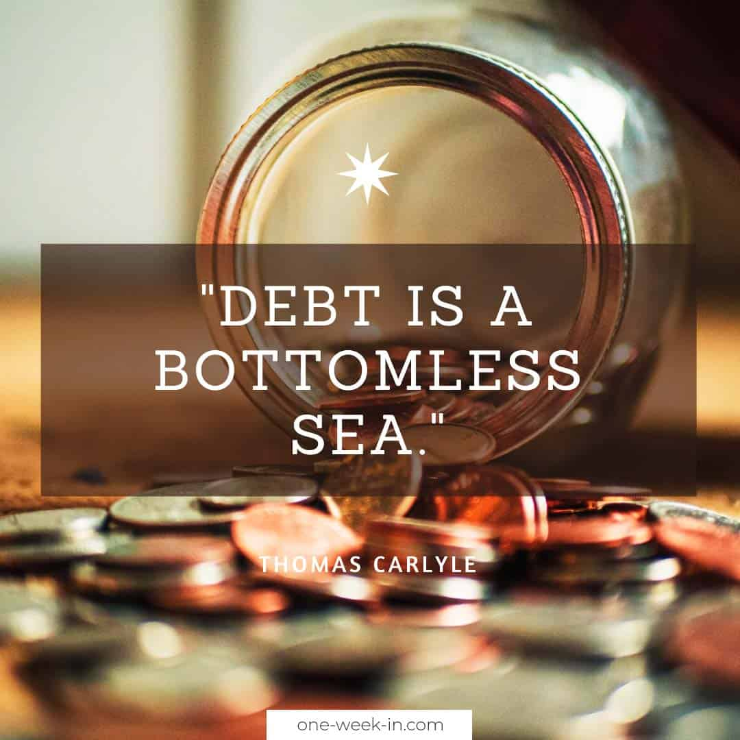 Debt is a bottomless sea