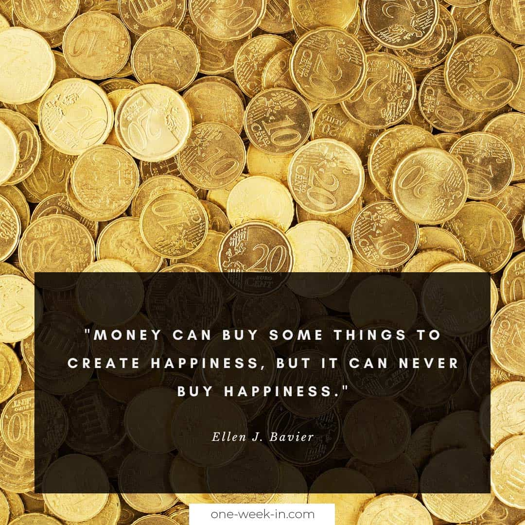 Money can buy some things to create happiness