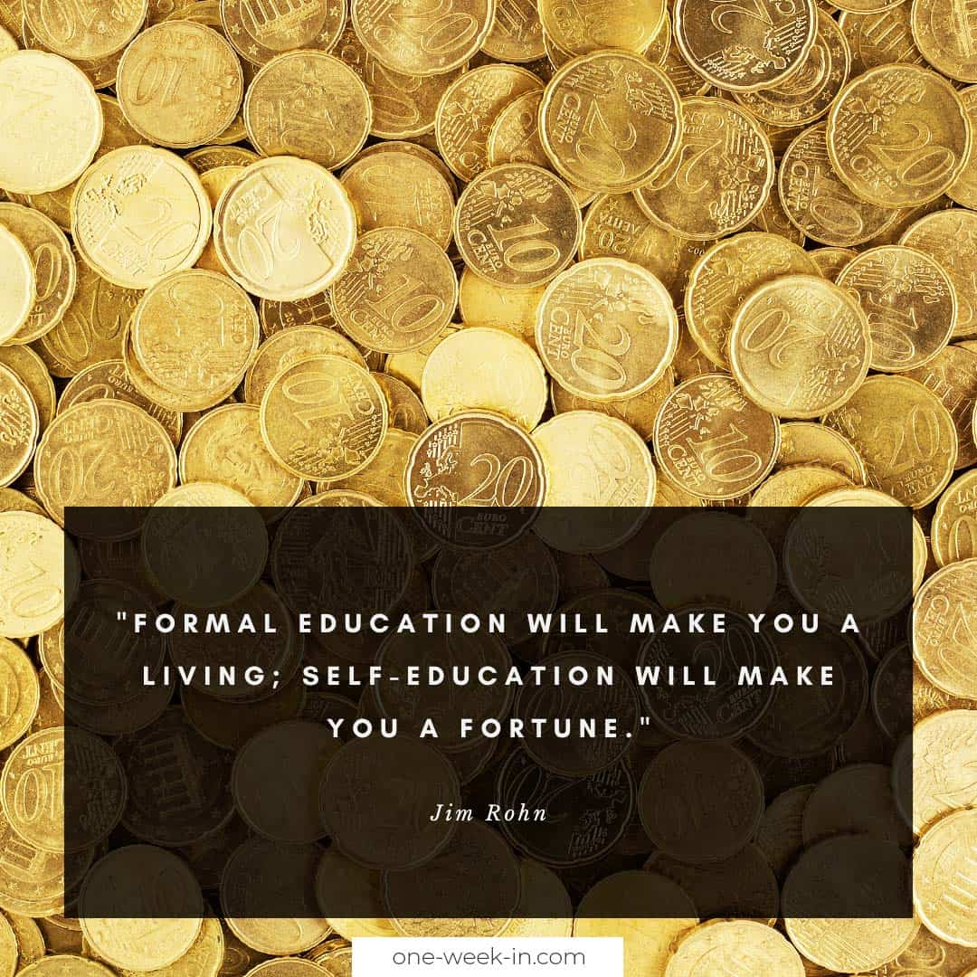 Formal education will make you a living