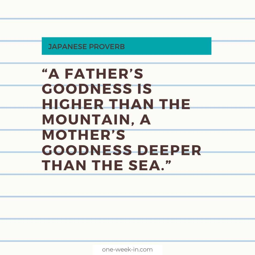 A father's goodness is higher than the mountain