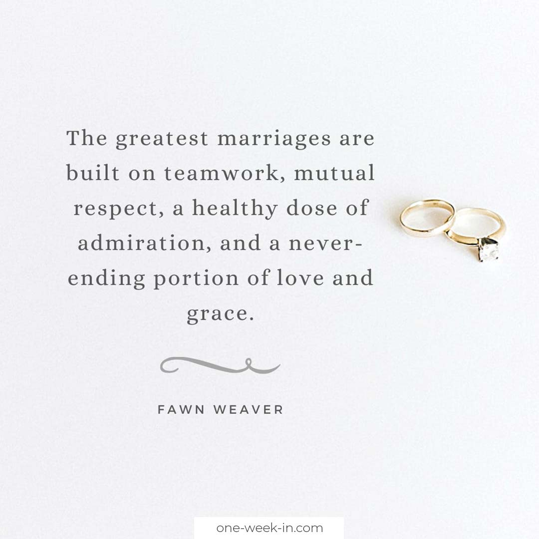 The greatest marriages are built on teamwork