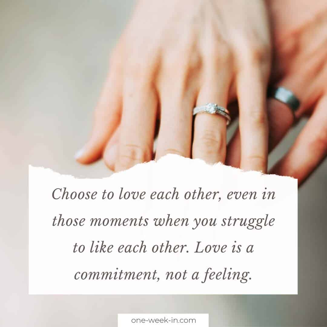Choose to love each other