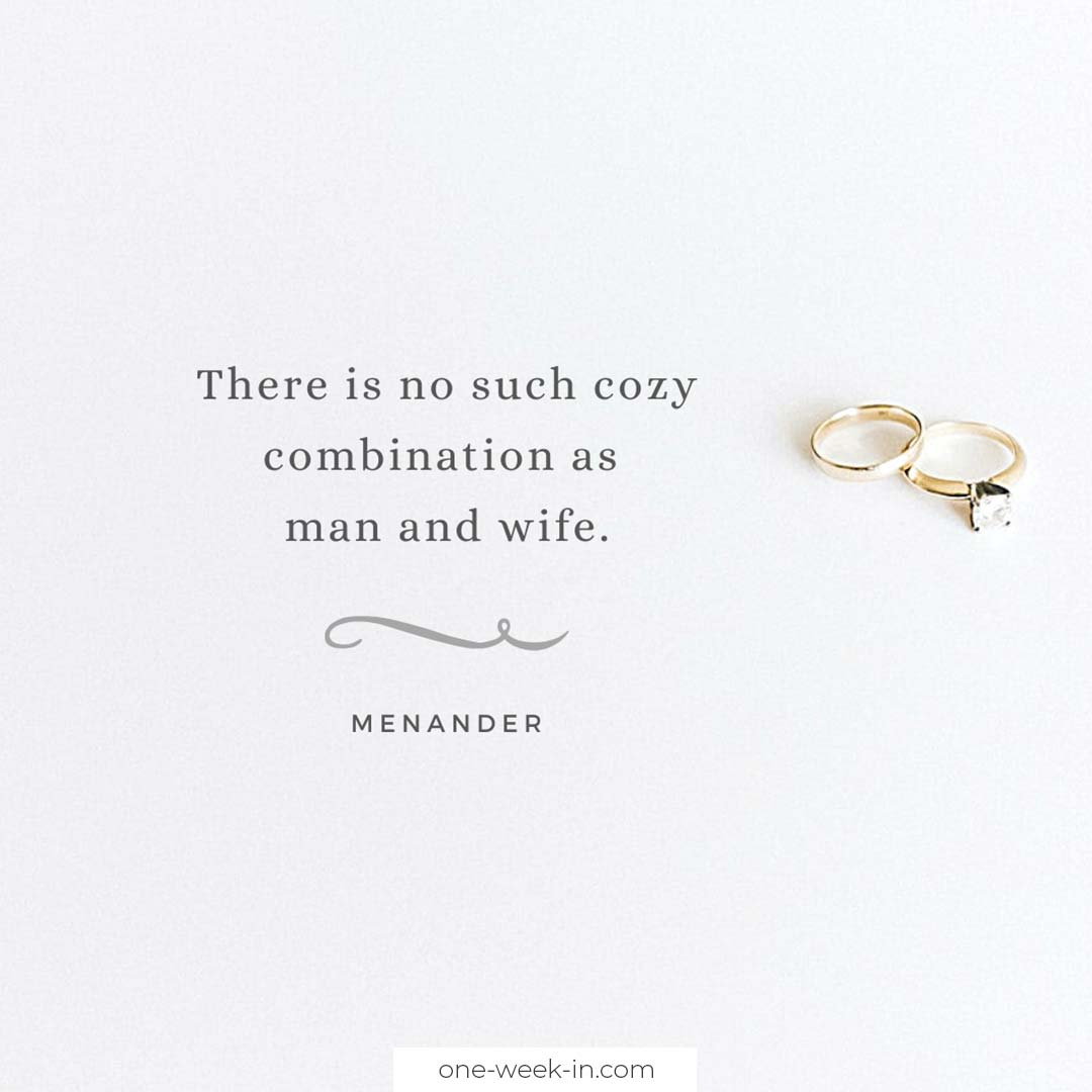 There is no such cozy combination as man and wife