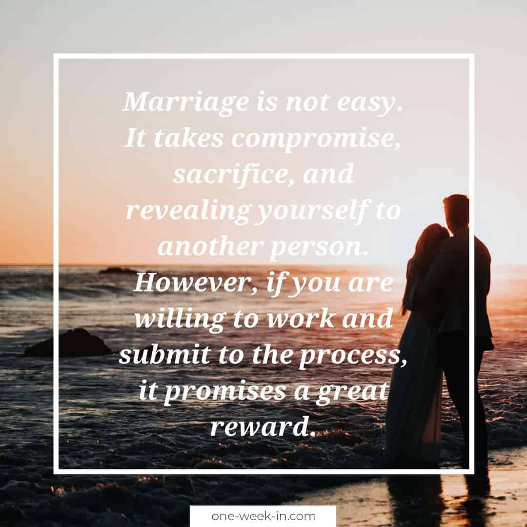 Marriage is not easy