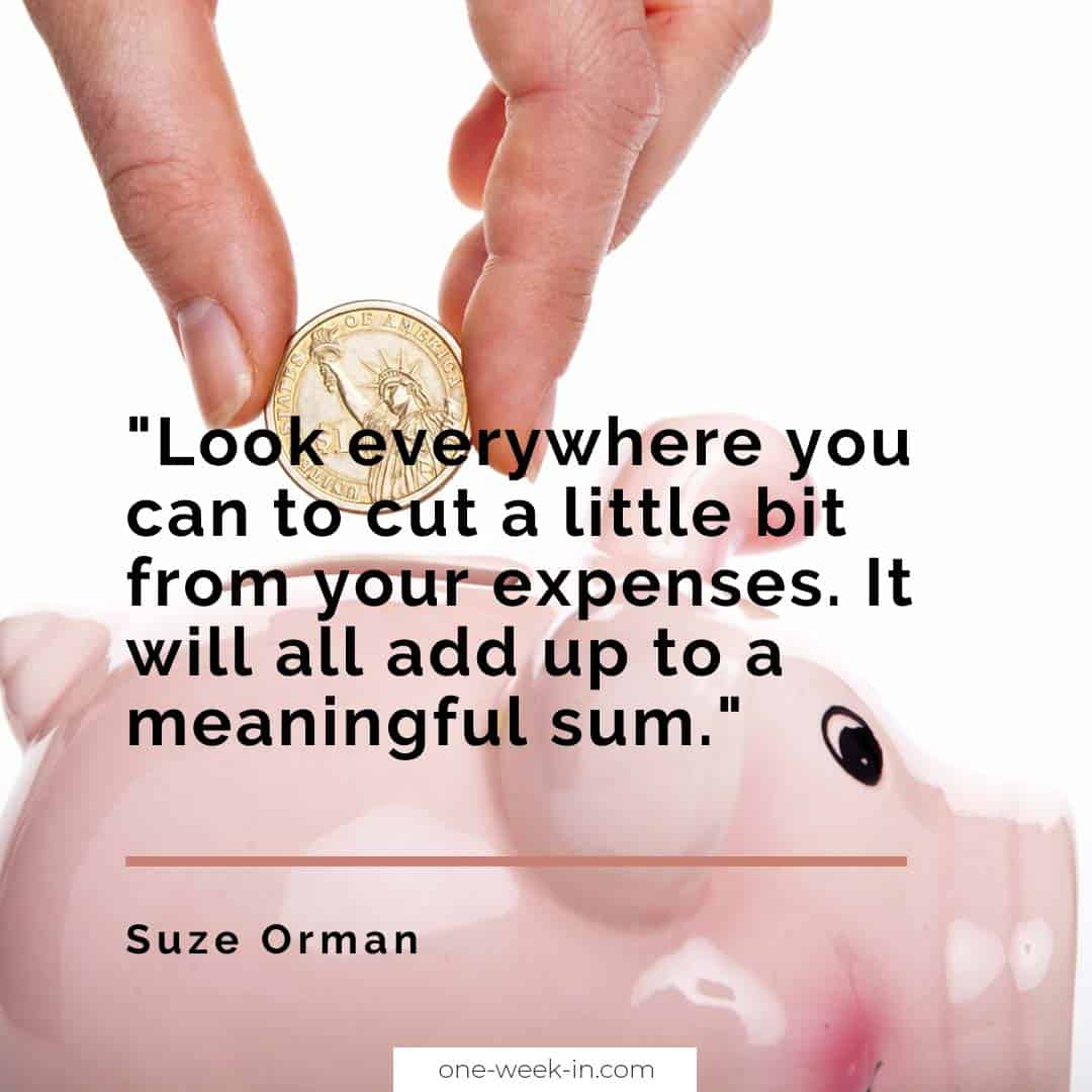 Look everywhere you can to cut a little bit from your expenses