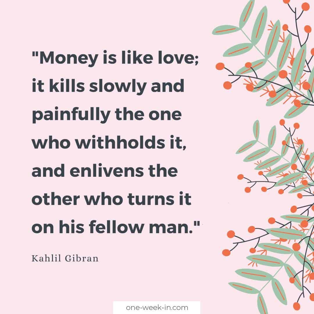 Money is like love