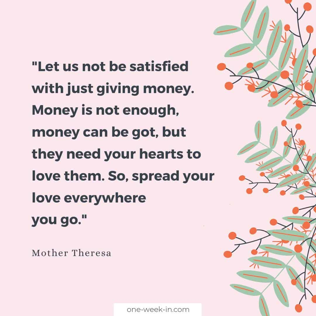 Let us not be satisfied with just giving money