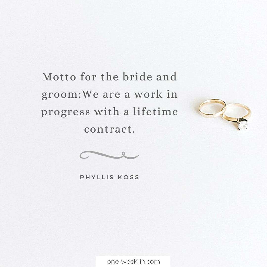 Motto for the bride and groom