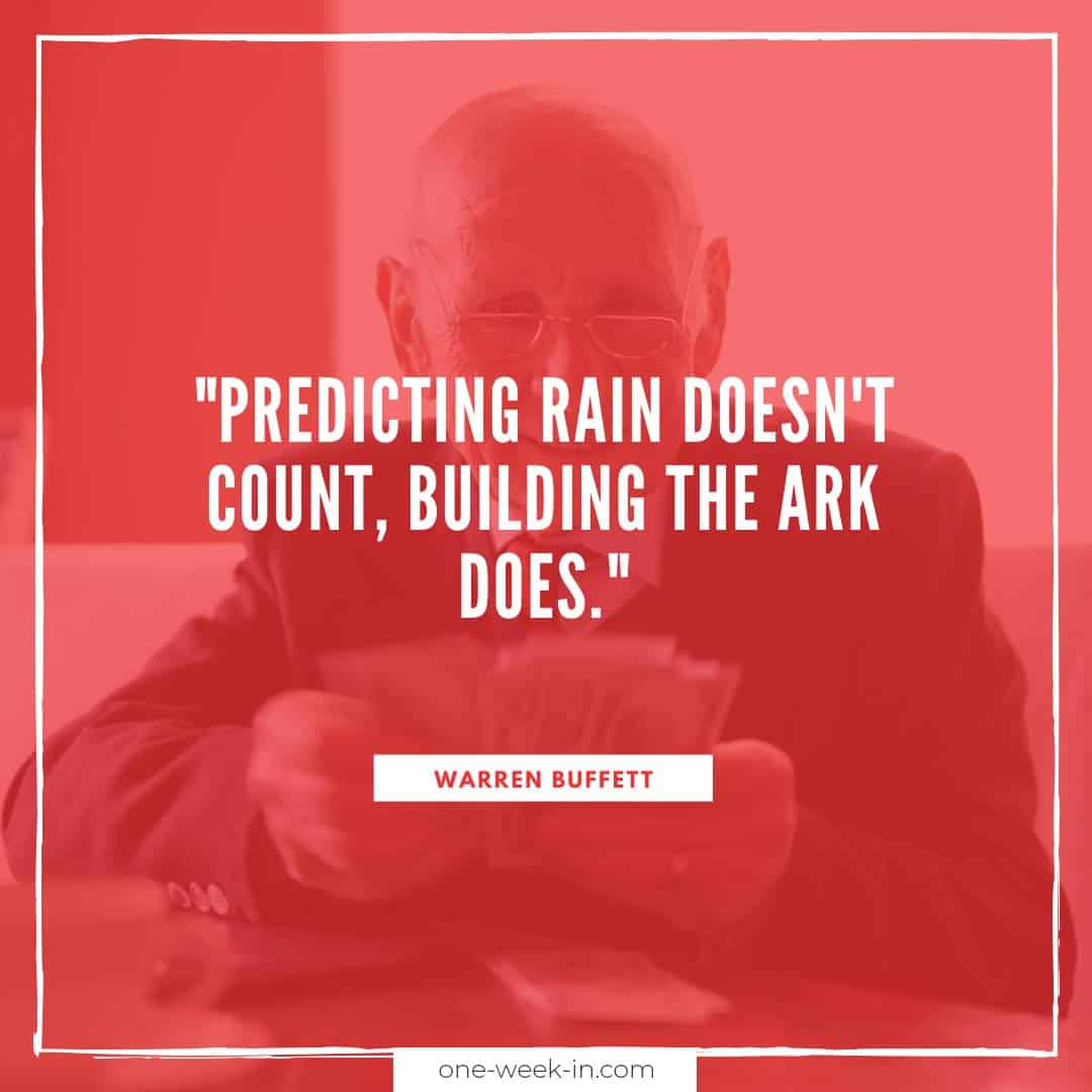Predicting rain doesn't count, building the ark does