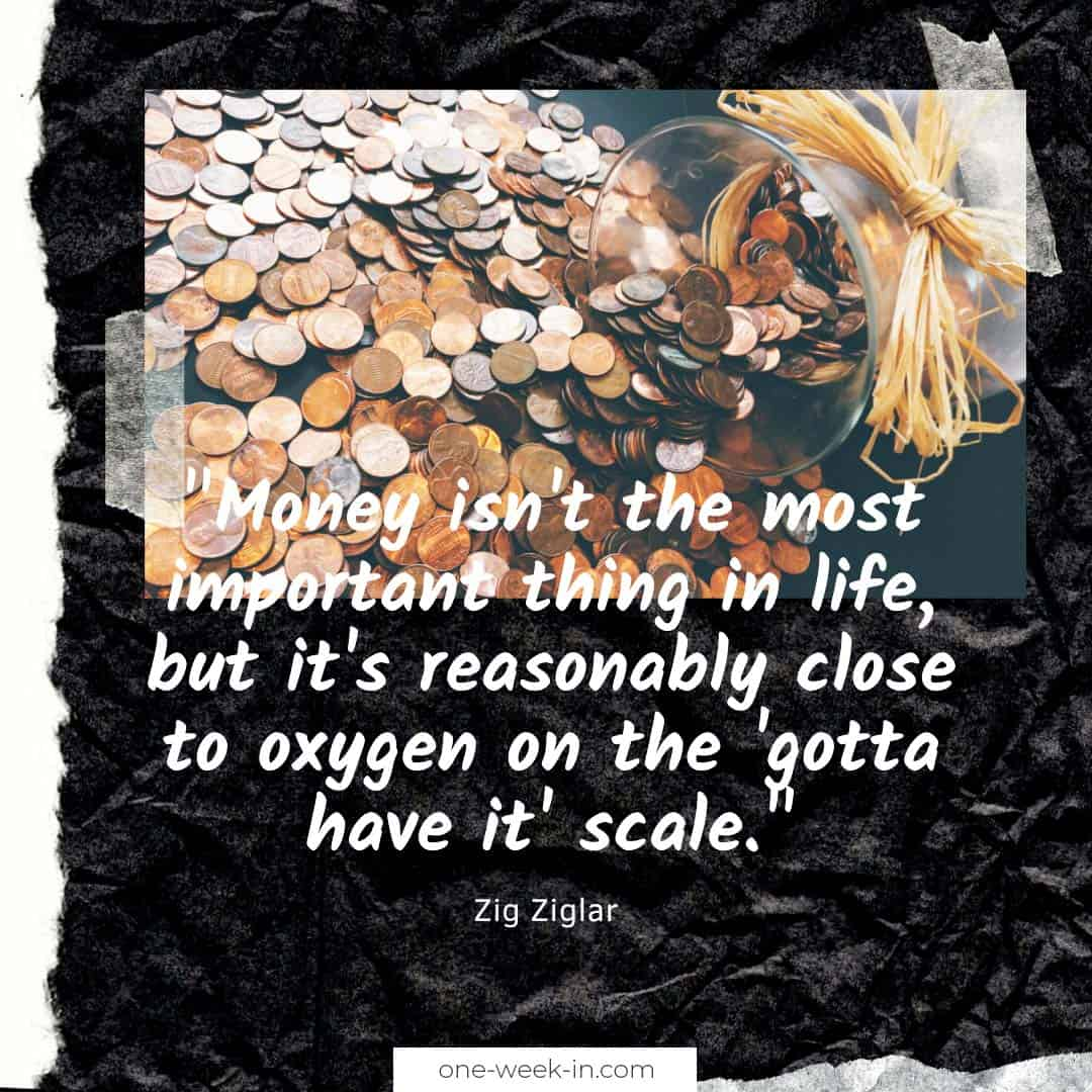 Money isn't the most important thing in life