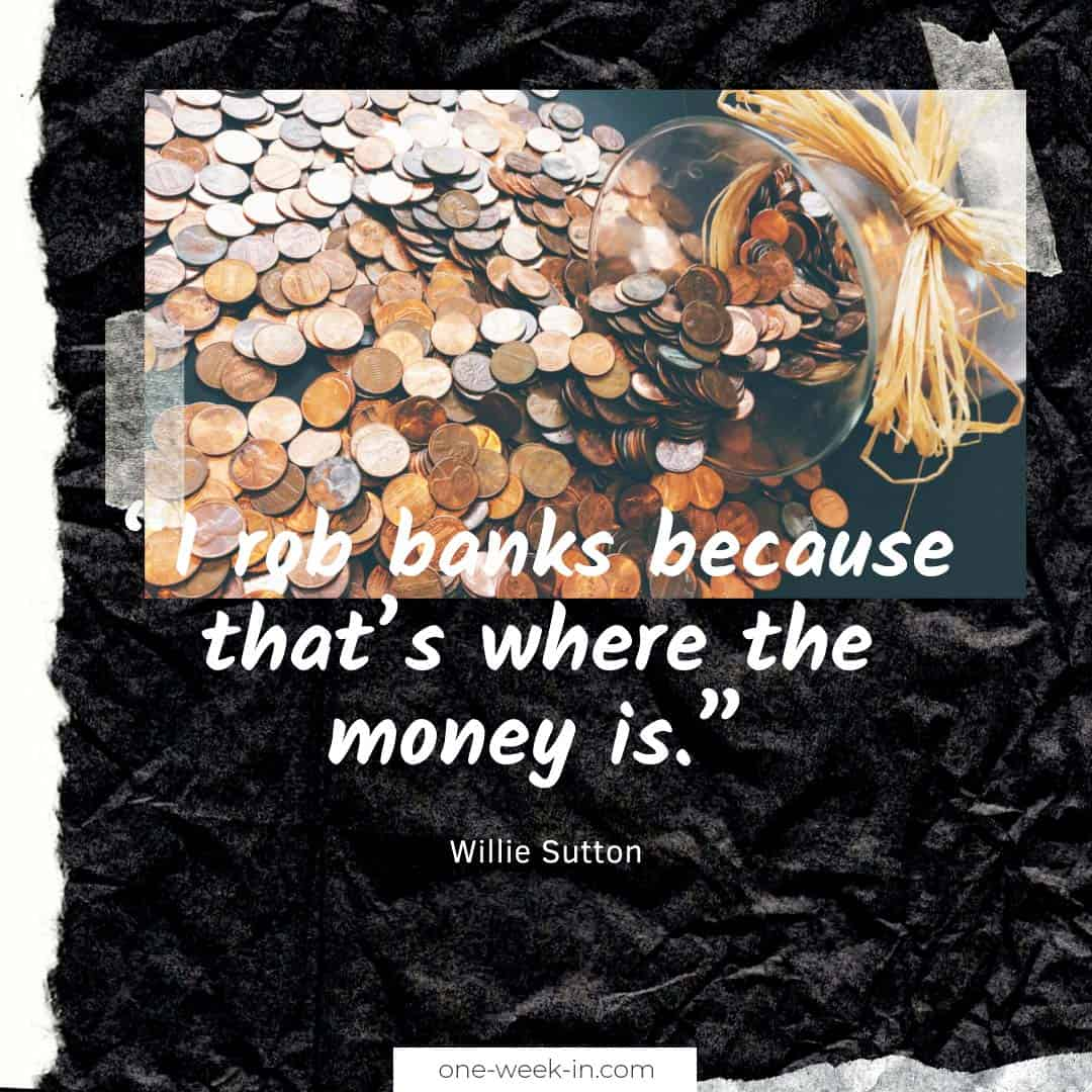I rob banks because that's where the money is