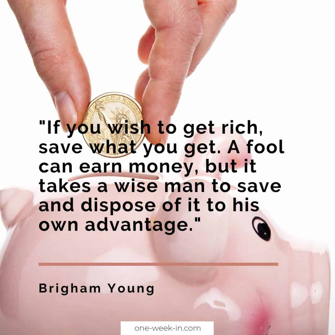 If you wish to get rich, save what you get