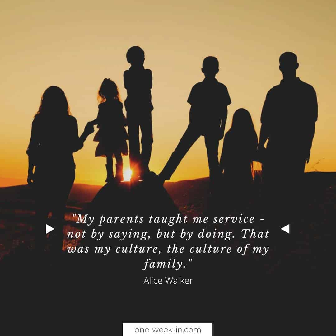 My parents taught me service - not by saying, but by doing
