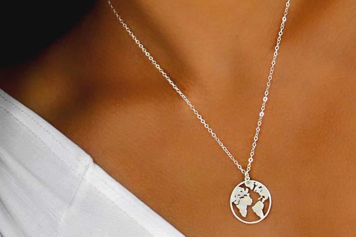 Handmade Globe Necklace