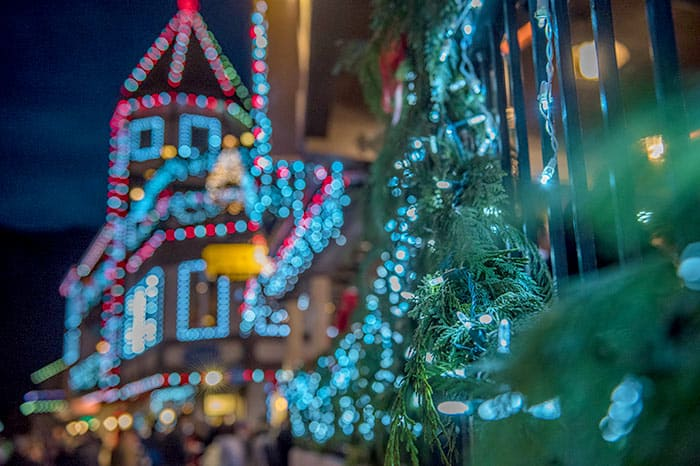 Light display at Metz Christmas Market - one of the best Christmas markets in Europe
