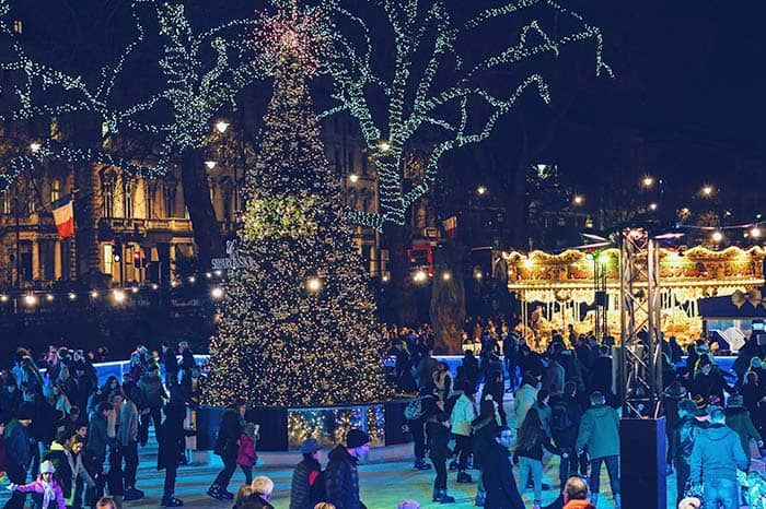 Ice rinks are popular and fun at the best Christmas markets in Europe
