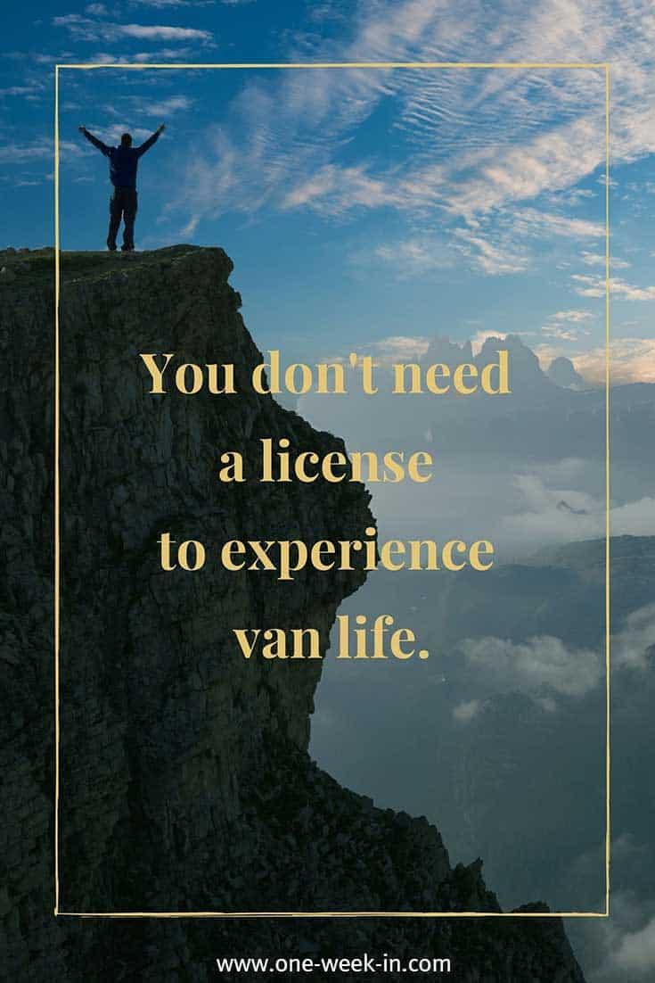 Van life quote